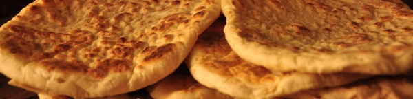 pita bread in close up view