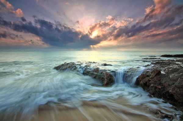sea dawn landscape nature